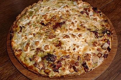 Steinpilz-Lauch-Kuchen