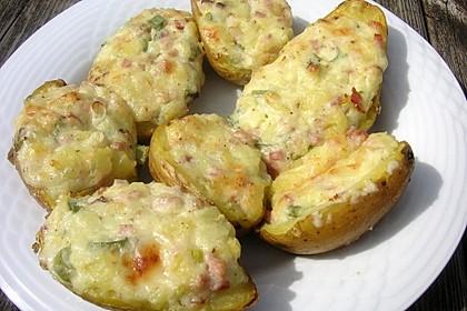 Doppelt gebackene Kartoffeln 7
