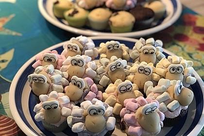 Schäfchen-Cupcakes 1