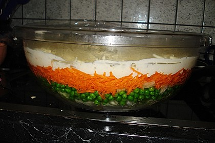Schichtsalat auf Kerstins Art 5
