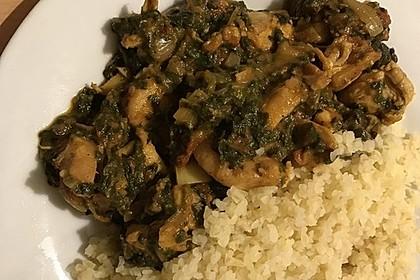 Indisches Chicken Saag - Hühnerbrustfilet mit Spinat (Bild)