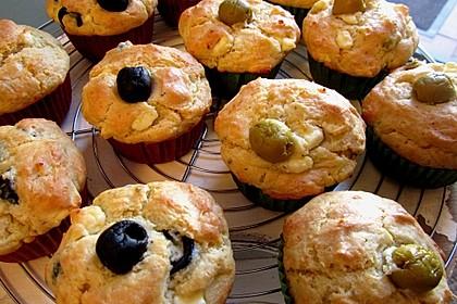 Feta-Oliven-Muffins (Bild)