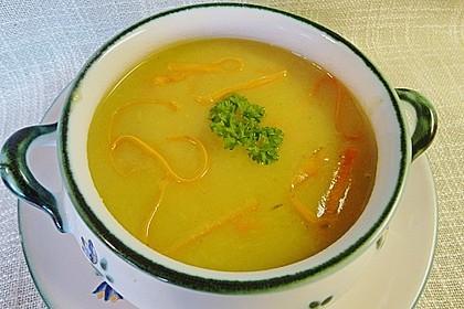 Kartoffel - Lauchcremesuppe mit Karotteneinlage 2