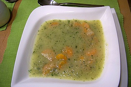 Kartoffel - Lauchcremesuppe mit Karotteneinlage 7