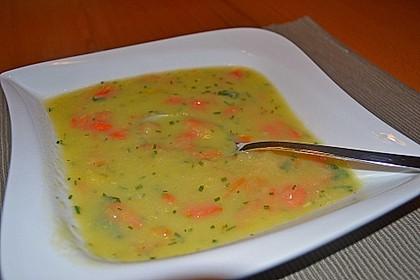 Kartoffel - Lauchcremesuppe mit Karotteneinlage 4