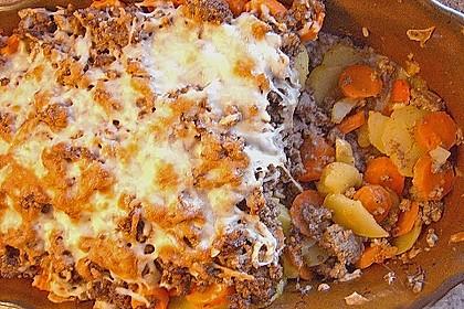 Hackfleisch - Kartoffel - Gemüse - Auflauf 6