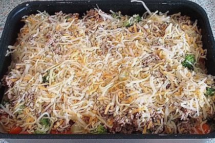 Hackfleisch - Kartoffel - Gemüse - Auflauf 14