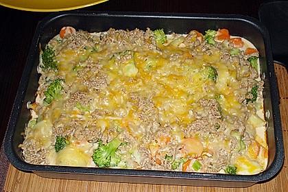 Hackfleisch - Kartoffel - Gemüse - Auflauf 2
