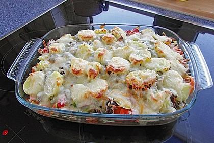 Hackfleisch - Kartoffel - Gemüse - Auflauf