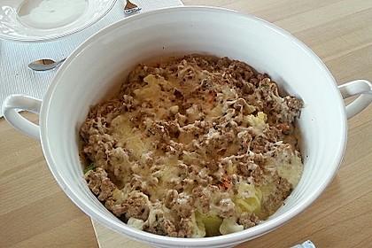 Hackfleisch - Kartoffel - Gemüse - Auflauf 3