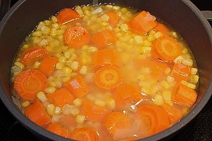 Maissuppe mit Möhren 8