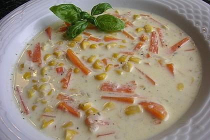 Maissuppe mit Möhren 2