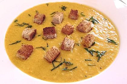 Maissuppe mit Möhren 1