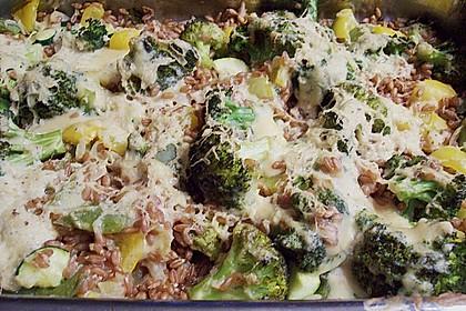 Dinkel - Gemüse - Auflauf 4