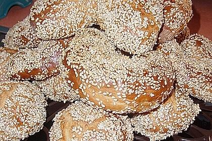 Sesamringe auf türkische Art und Weise 61