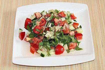 Pak Choi-Tomaten-Gurken-Salat 3