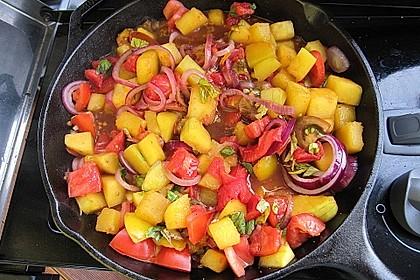 Kürbis-Tomaten-Pfanne vom Grill 1