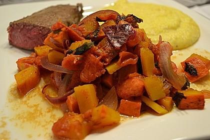 Kürbis-Tomaten-Pfanne vom Grill