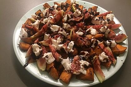 Salat mit Süßkartoffeln, Feigen und Ziegenkäse 9