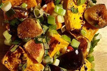 Salat mit Süßkartoffeln, Feigen und Ziegenkäse 10