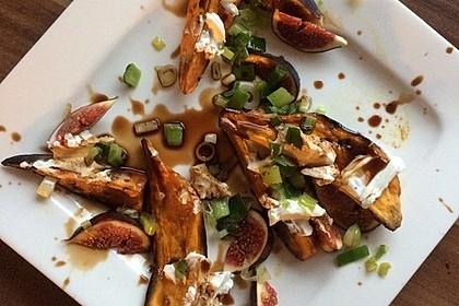 Salat mit Süßkartoffeln, Feigen und Ziegenkäse 8