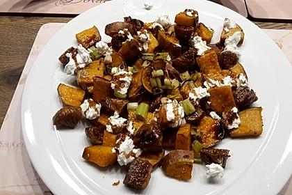 Salat mit Süßkartoffeln, Feigen und Ziegenkäse 7