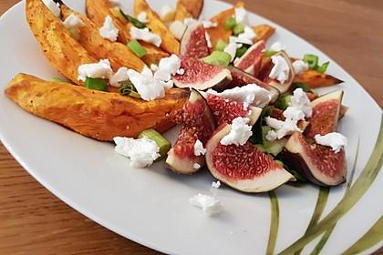 Salat mit Süßkartoffeln, Feigen und Ziegenkäse 6