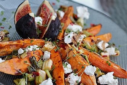 Salat mit Süßkartoffeln, Feigen und Ziegenkäse 1