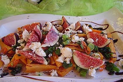Salat mit Süßkartoffeln, Feigen und Ziegenkäse 2
