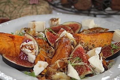 Salat mit Süßkartoffeln, Feigen und Ziegenkäse 3