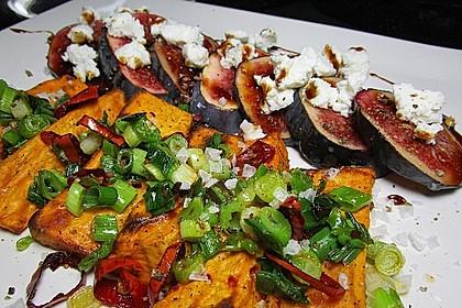 Salat mit Süßkartoffeln, Feigen und Ziegenkäse 4