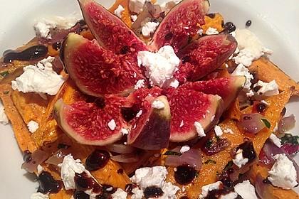 Salat mit Süßkartoffeln, Feigen und Ziegenkäse 5