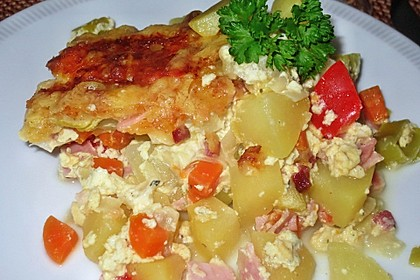 Herbstlicher Kartoffel-Gemüse-Auflauf