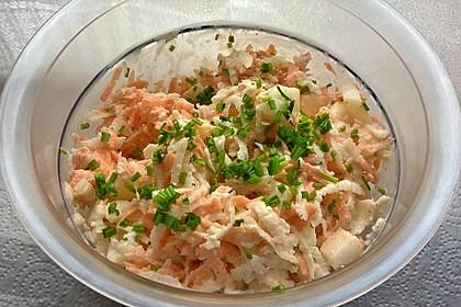 Schwarzer Rettich-Karotten-Salat