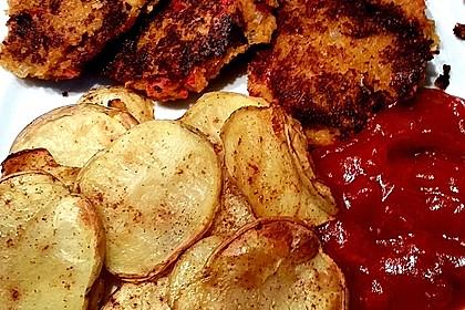 Vegane Linsenbratlinge mit Backkartoffeln