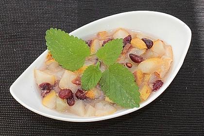 Honigmelonen-Cranberry-Kompott