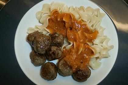 Nudeln mit Tomaten-Mozzarella Soße 3