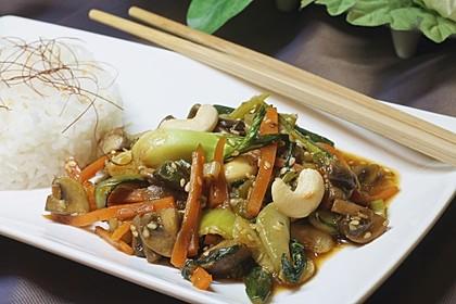 Schnelle Asia-Gemüsepfanne