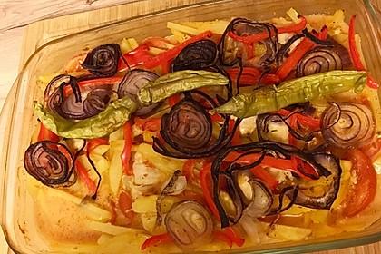 Türkischer Kartoffelauflauf mit Hähnchenflügel 8