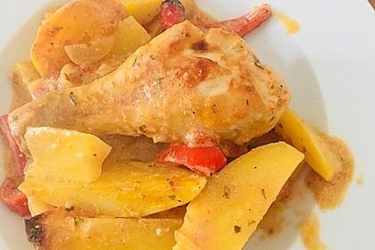 Türkischer Kartoffelauflauf mit Hähnchenflügel 12