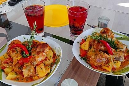 Türkischer Kartoffelauflauf mit Hähnchenflügel 3
