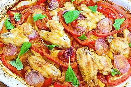 Türkischer Kartoffelauflauf mit Hähnchenflügel 2