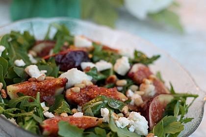 Rucolasalat mit Feigen, Gorgonzola und Ingwerdressing 1
