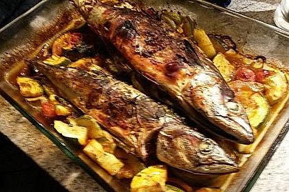 Makrele aus dem Backofen