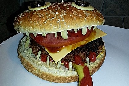 Halloween Grusel-Burger