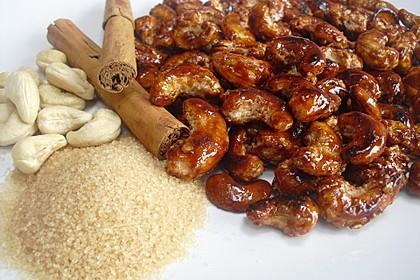 Gebrannte Cashew-Nüsse wie vom Jahrmarkt
