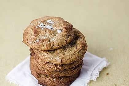 Pure Erdnussbutter Cookies mit Salz