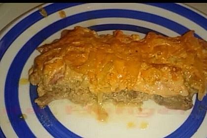 Kotelett mit Hackfleisch und Bacon in einer Tomaten-Sahne Soße 1