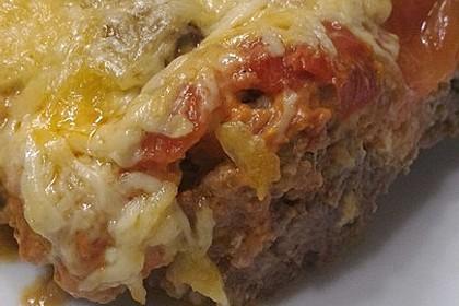 Kotelett mit Hackfleisch und Bacon in einer Tomaten-Sahne Soße