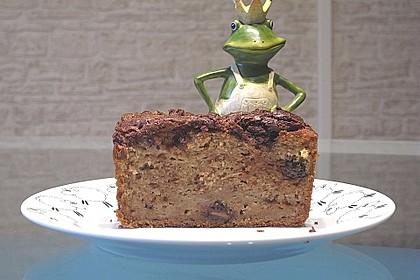 Urmelis Bananen-Schokoladen-Kuchen mit Nutellahäubchen